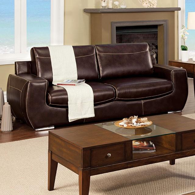 Tekir Espresso Bonded Leather Sofa