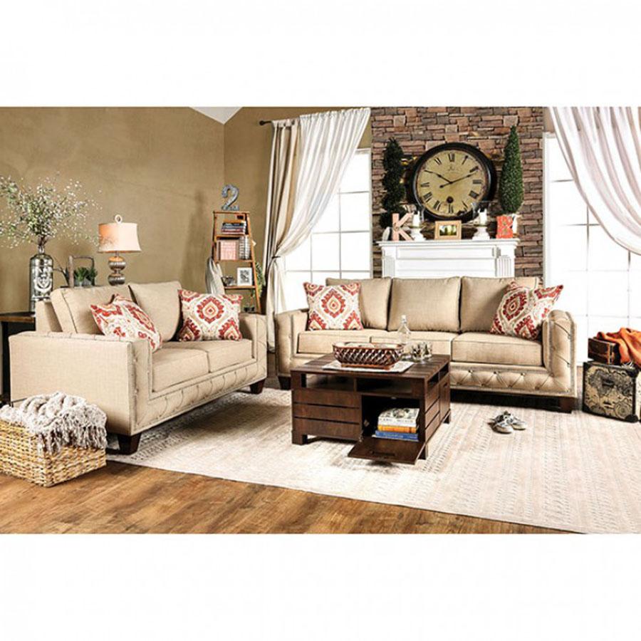 Norwick Beige Sofa Set