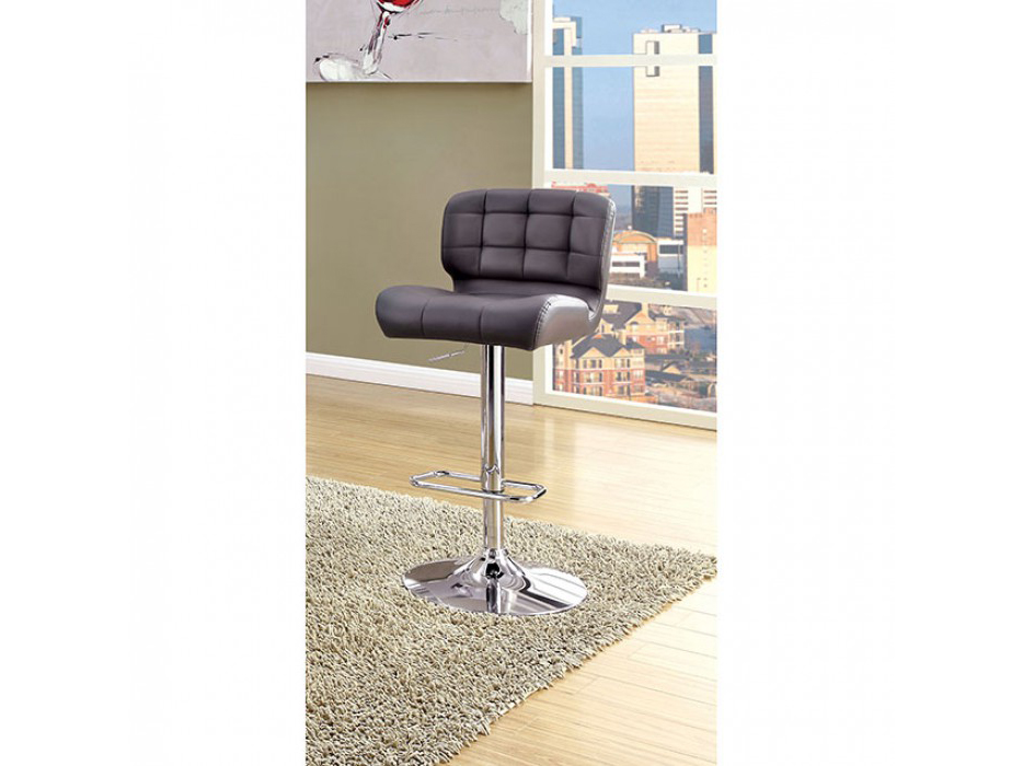 Kori Contemporary Gray Leatherette Bar Chair Shop For