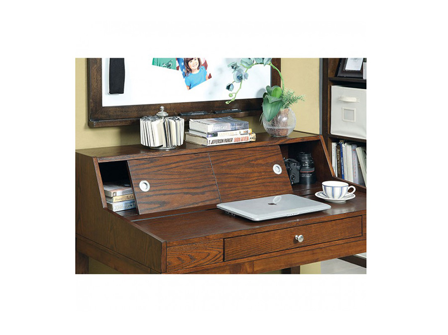 Veda Transitional Cherry Finish Desk With Chair