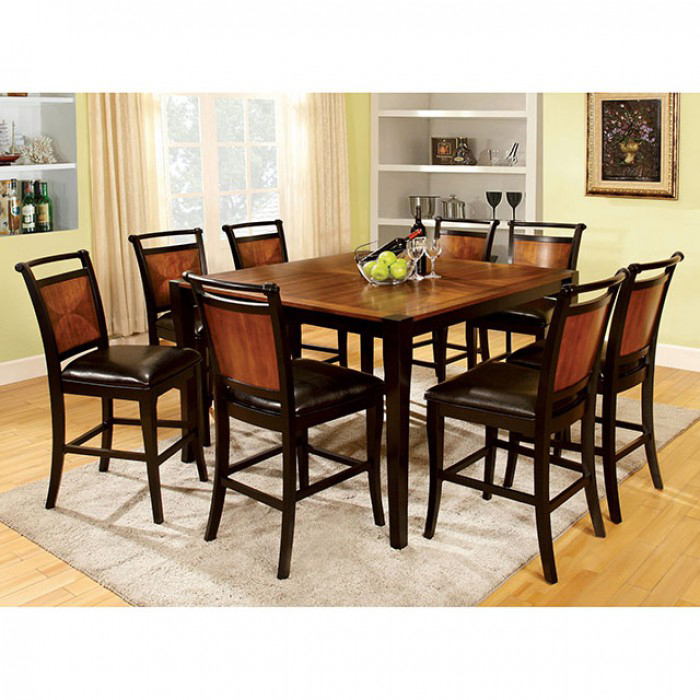 salida ii acacia black square counter height table set shop for affordable home furniture. Black Bedroom Furniture Sets. Home Design Ideas