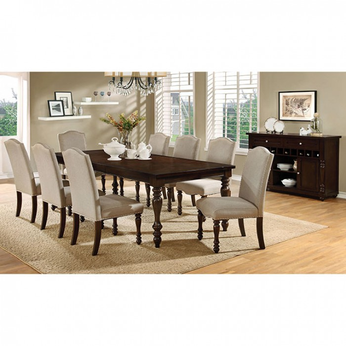 Hurdsfield Transitional Antique Cherry Dining Table Set