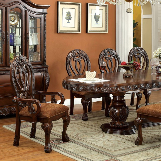 cherry dining table. Wyndmere Cherry Formal Dining Table Set With 2 Leaves