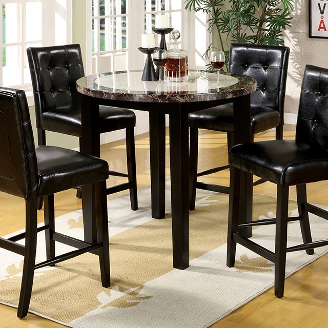 Atlas IV 5Pcs Black Wood Round Counter Height Table Set & Atlas IV 5Pcs Black Wood Round Counter Height Table Set - Shop for ...