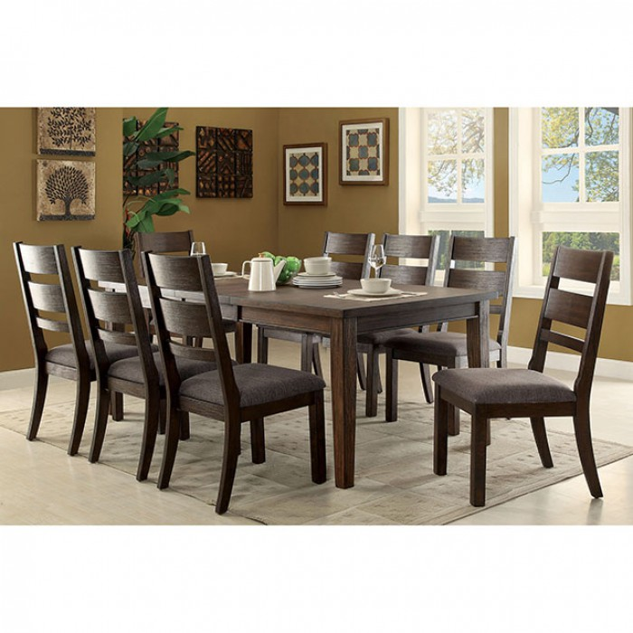 Isadora Transitional Espresso Finish Dining Table Set Shop For - Espresso finish coffee table set