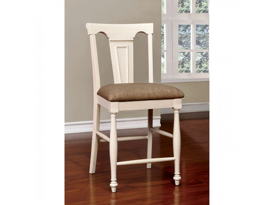 Sabrina Transitional White And Cherry Counter Height Table