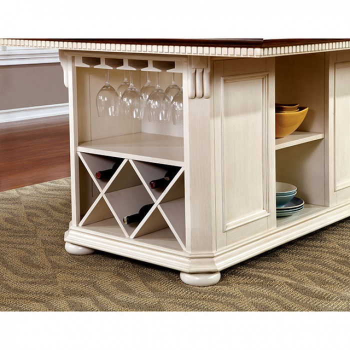 Sabrina Transitional White And Cherry Counter Height Table Set  sc 1 st  Muuduu Furniture & Sabrina Transitional White And Cherry Counter Height Table Set ...