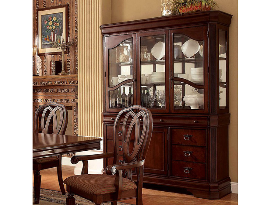 Harwinton Traditional Cherry Finish Hutch Buffet Set Shop For