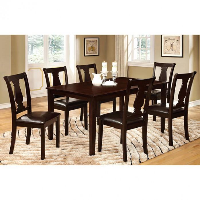Bridle I 7Pcs Transitional Espresso Dining Table Set  sc 1 st  Muuduu Furniture & Bridle I 7Pcs Transitional Espresso Dining Table Set - Shop for ...