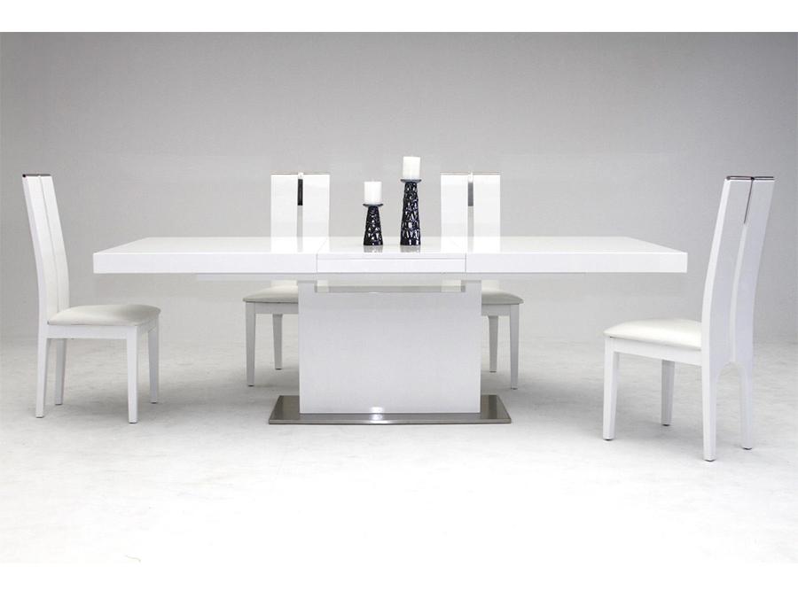 Lester White Extendable Dining Table Set