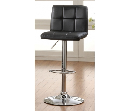Komoe Black Height Adjustable Swivel Bar Stool Shop For