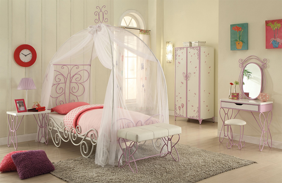 Priya Silver Matel Twin Canopy Bed & Priya Silver Matel Twin Canopy Bed - Shop for Affordable Home ...