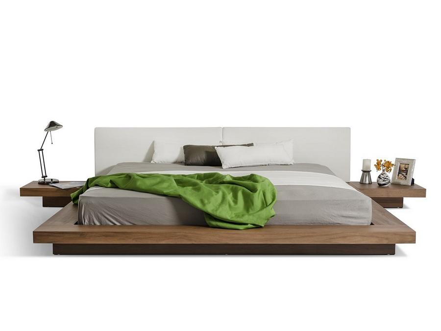 Kendall Walnut Platform Bed