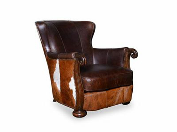 Walnut Lounge Chair With Arms Wood For Kennedy Shop Hide WE2DHI9