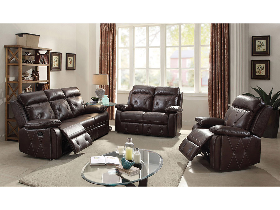 Geva Burgundy Sofa Set