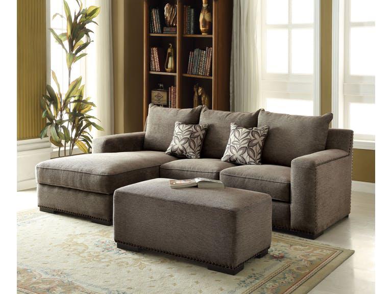 Ushury Gray Sectional Sofa Set
