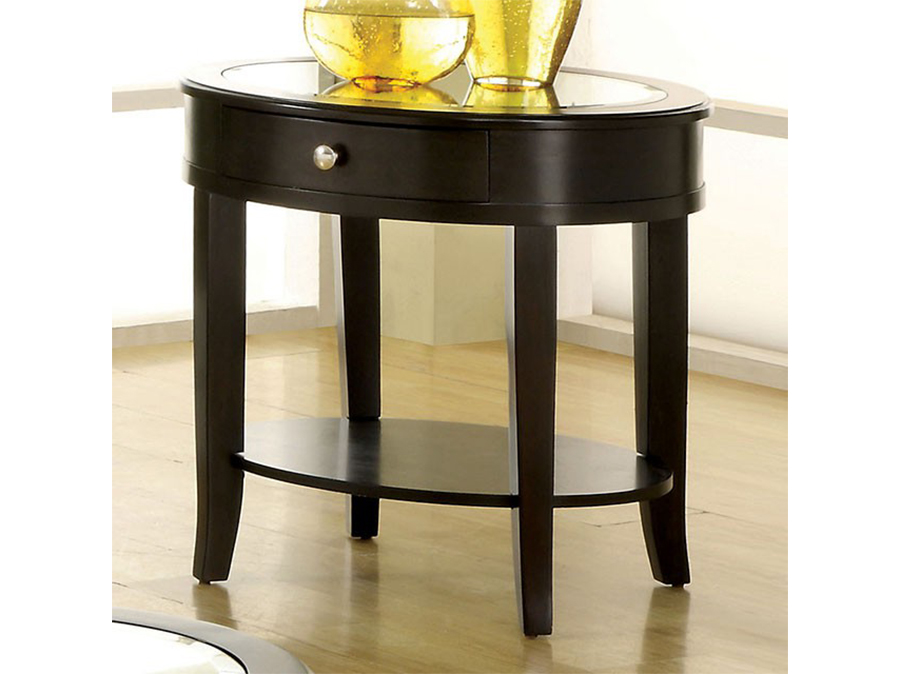 Silver Mist Dark Walnut End Table
