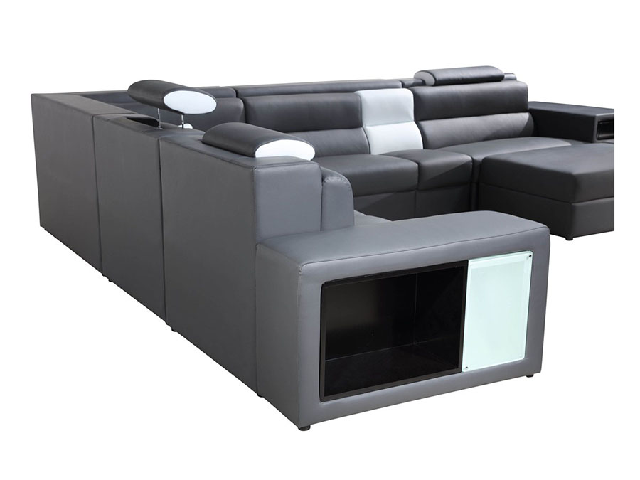 Grey Sectional Sofa With Lights