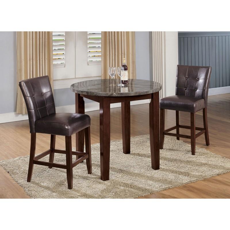 Danville 3Pcs Black Marble Walnut Bar Table Set  sc 1 st  Muuduu Furniture & Danville 3Pcs Black Marble Walnut Bar Table Set - Shop for ...