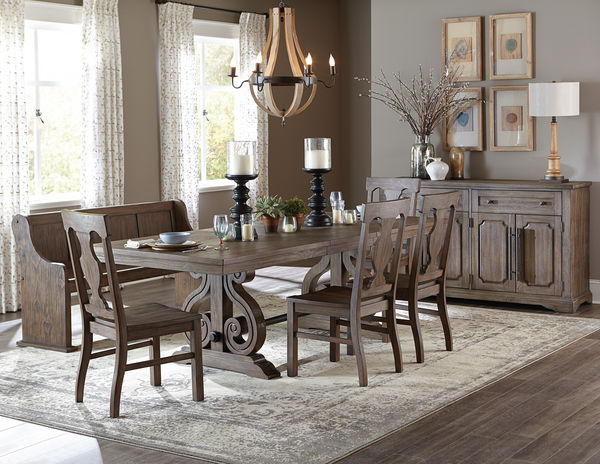 Toulon Rectangular Trestle Dining Set - Muuduu Furniture - Outlet ...