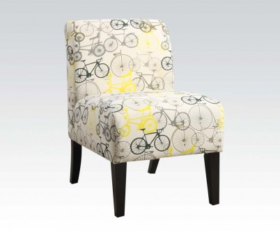 Ollano Gray Bike Fabric Accent Chair
