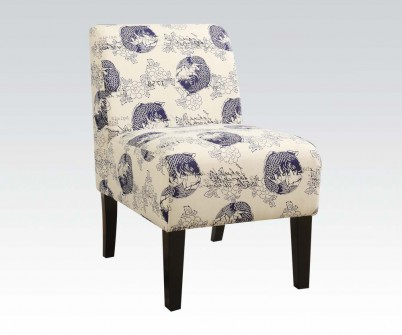 Ollano Dark Blue Fabric Accent Chair Shop For Affordable Home
