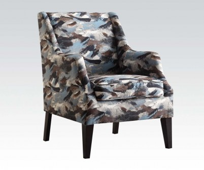 Excellent Zarate Blue Fabric Accent Chair Machost Co Dining Chair Design Ideas Machostcouk