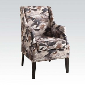 Wondrous Zarate Brown Fabric Accent Chair Gmtry Best Dining Table And Chair Ideas Images Gmtryco