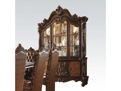 versailles cherry oak hutch buffet light china cabinet shop for