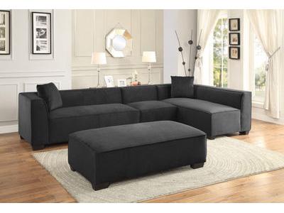 Metz Sectional Sofa Ottoman Set.