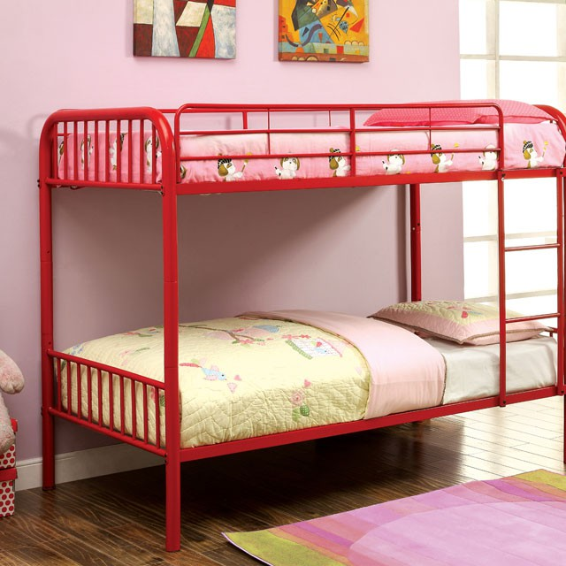 Rainbow Red Kids Twin Over Twin Bunk Bed Shop For Affordable Home