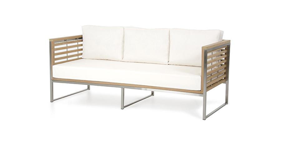 Outdoor Teak U0026 White Sofa Set