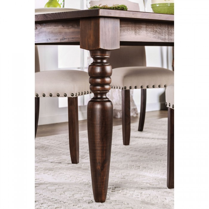Anapolis Transitional Dark Walnut Dining Table Set