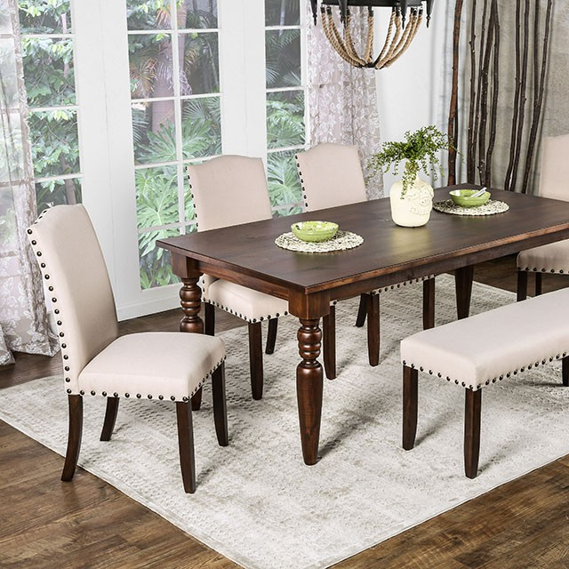 Anapolis Dining Table In Dark Walnut