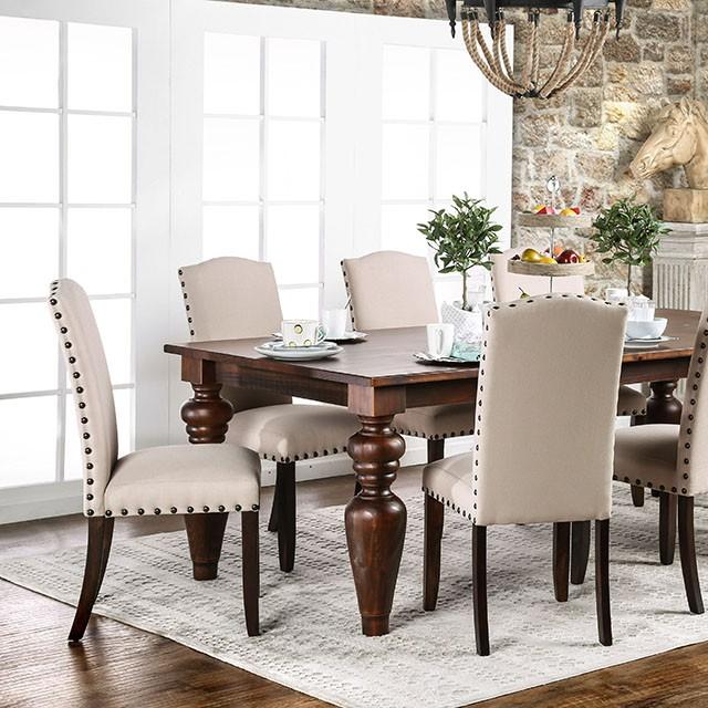 Anapolis Transitional Dark Walnut Dining Table Set Shop For - Dark walnut dining table and chairs
