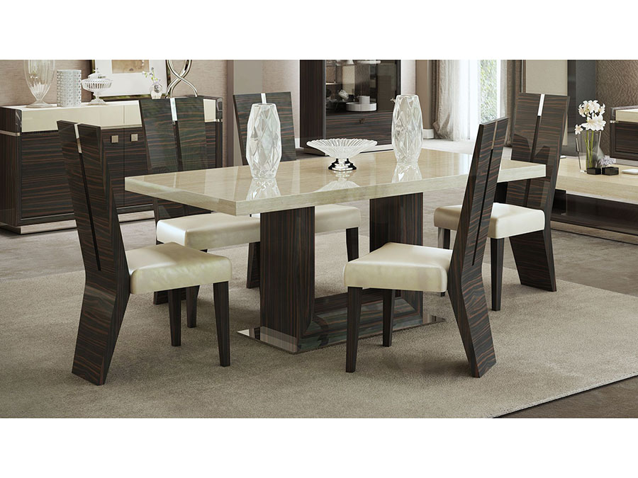 Attrayant Nature Stone With Marble Veneer Table Top Dining Set
