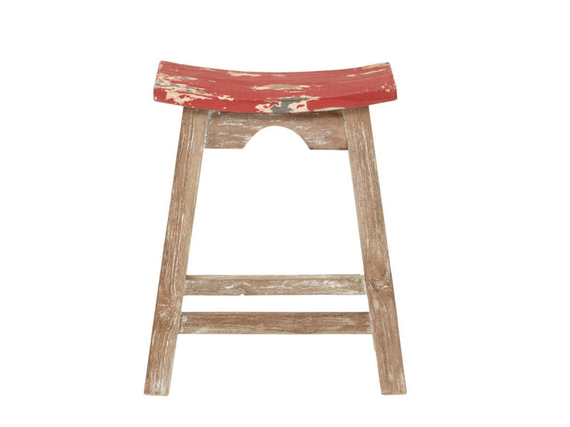 sc 1 st  Muuduu Furniture & 24u201d Rustic Red Saddle Stool islam-shia.org