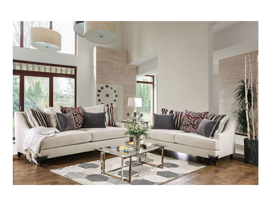 Viscontti Ivory Sofa Set