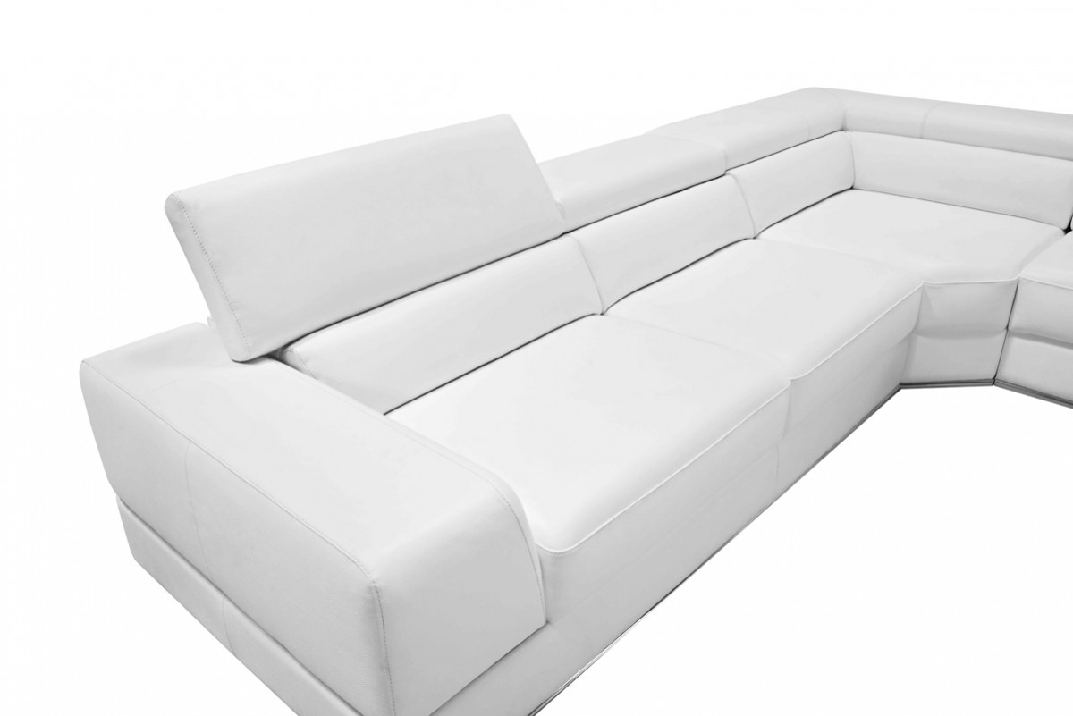 White Bonded Leather Sectional Sofa Shop For Affordable Home