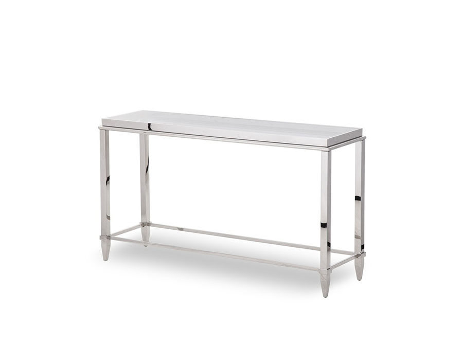 Glass U0026 Stainless Steel Console Table