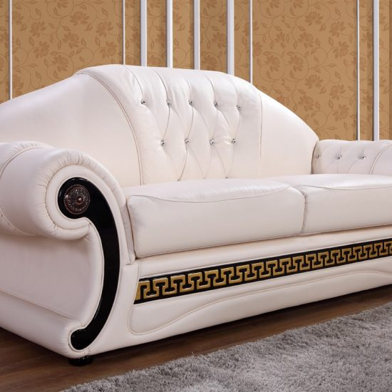Cream Leather Sofa Set Shop for Affordable Home Furniture Decor