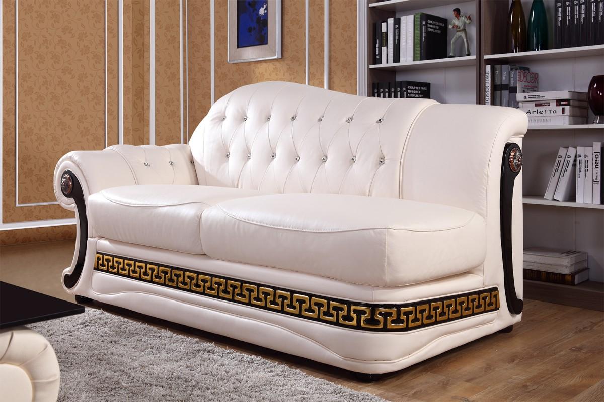 Cream leather sofa set shop for affordable home for Cream leather sofa