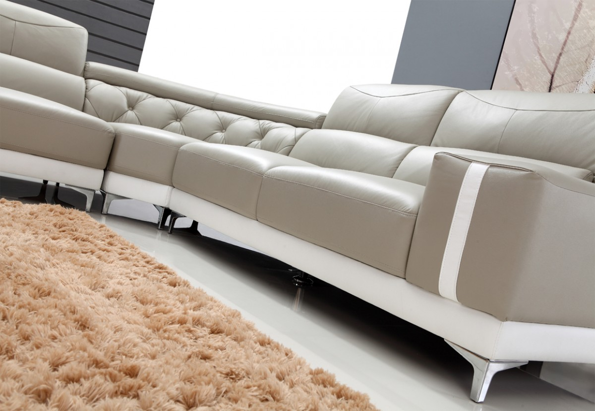 White Leather Sectional Sofa grey & white leather sectional sofa