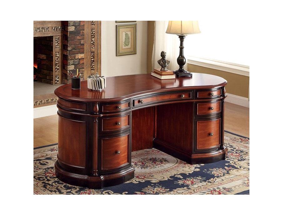 Strandburg CherryBlack Oval Office Desk Shop for Affordable Home