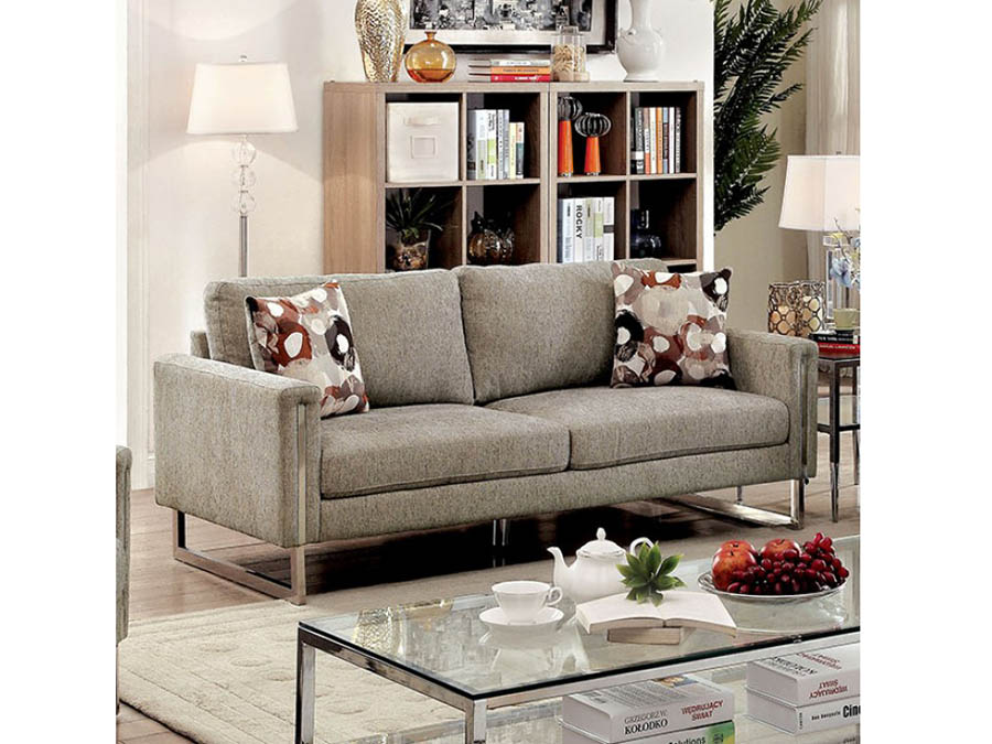Lauren II Pewter Sofa