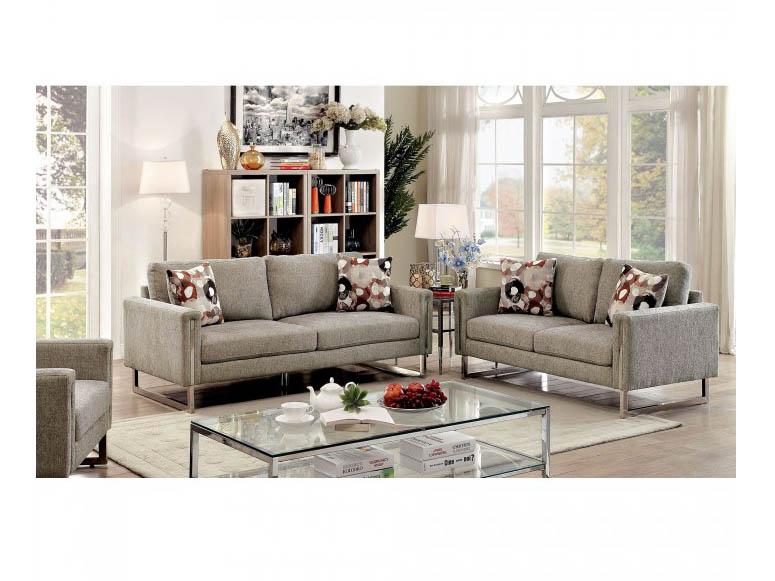 Lauren II Pewter Sofa Set