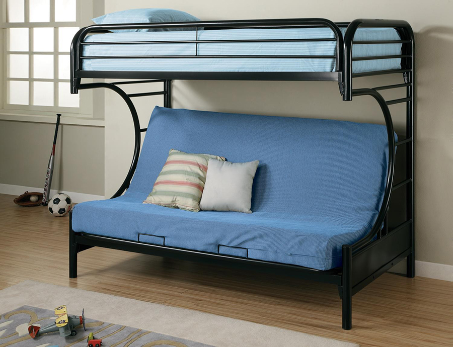 Black Metal Twin Over Full Futon Bunk Bed Shop For Affordable Home