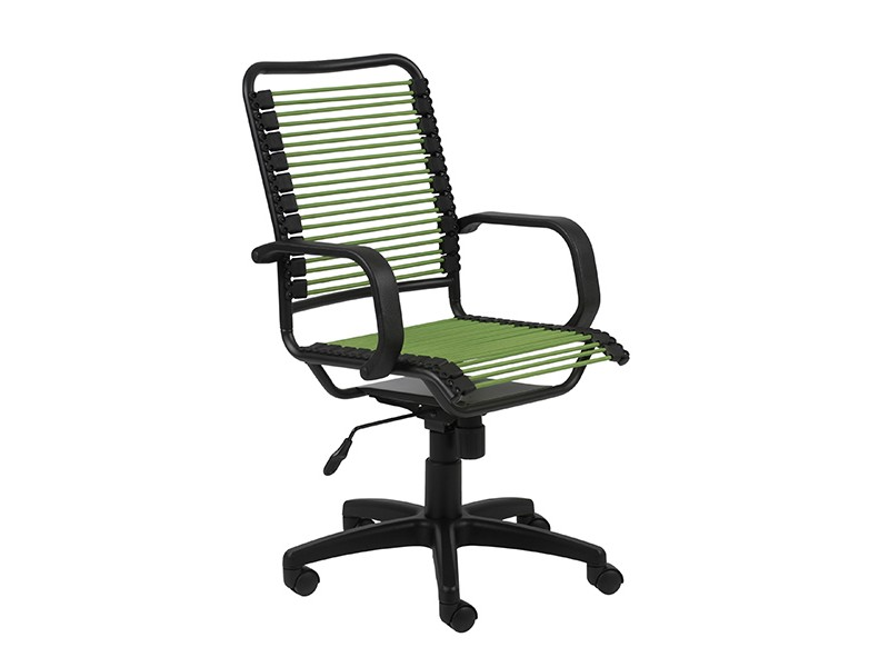 Bradley Bungie Office Chair In Green Graphite Black