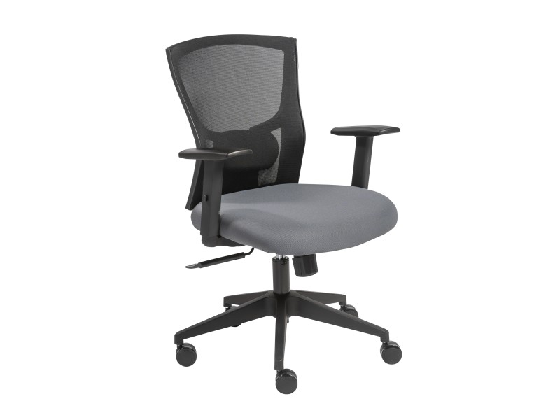 Belma Low Back Office Chair In Black And Gray Shop For