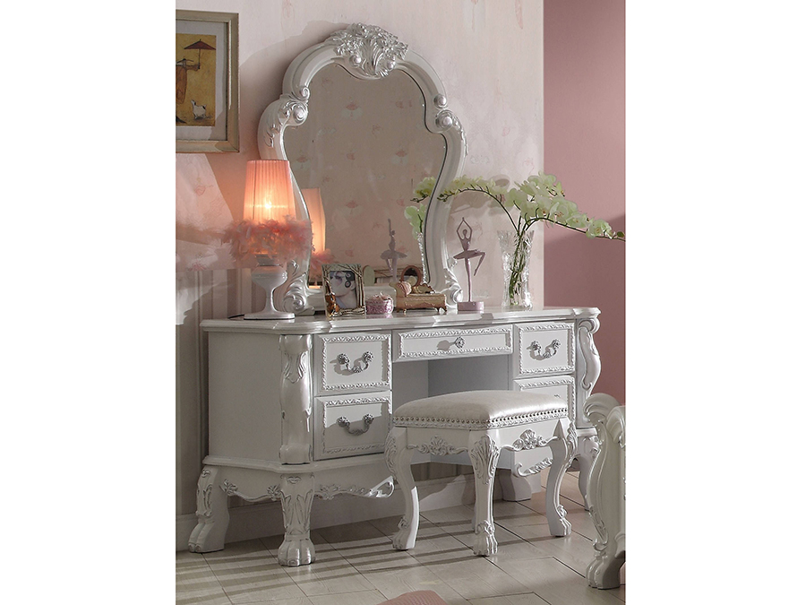 Dresden Antique White Vanity Set